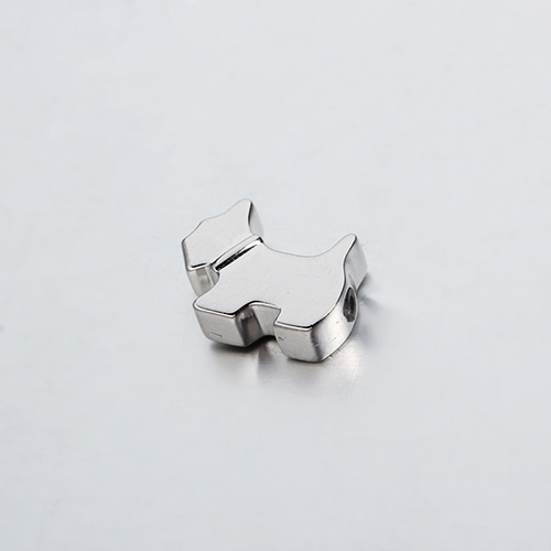 925 sterling silver dog slider beads