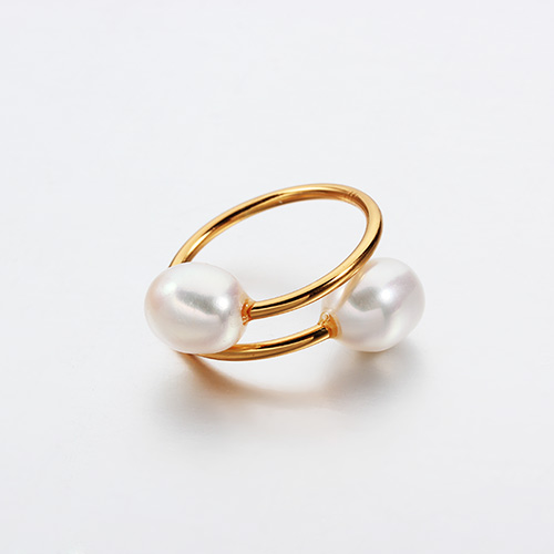 925 sterling silver oval pearl adjustable rings