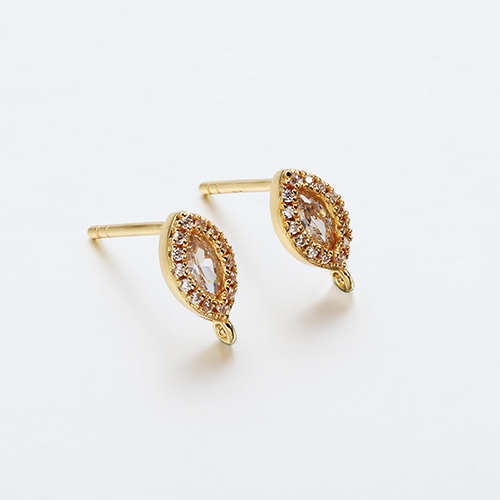 925 sterling silver cz marquise earring findings