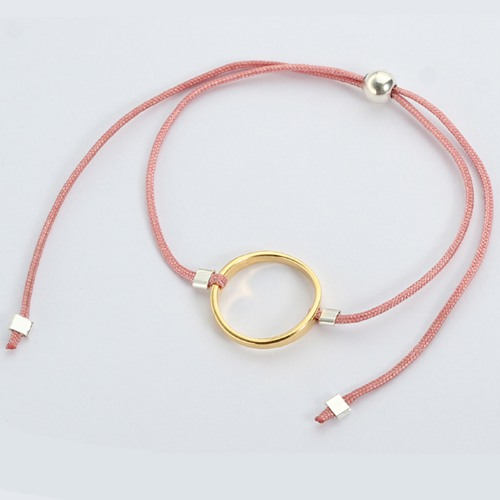 925 sterling silver round ring cord bracelet