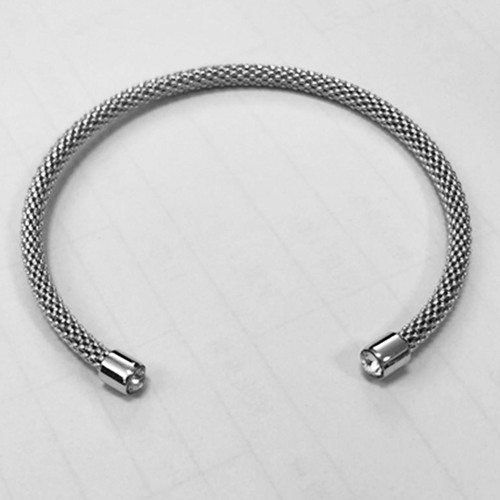 925 sterling silver cz mesh bangle wholesale