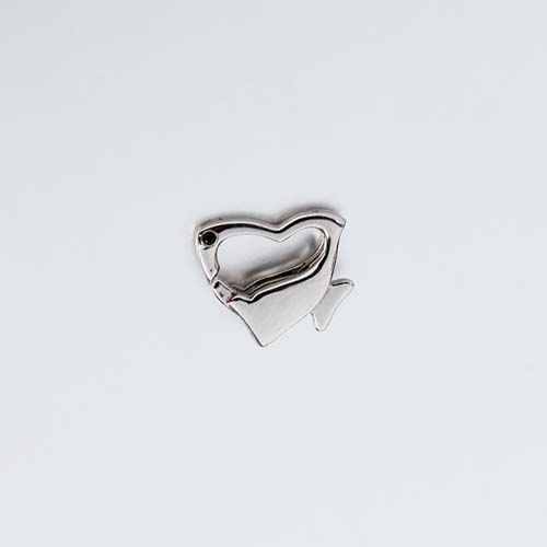 925 sterling silver cz heart lobster clasps