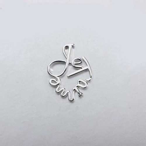 Sterling silver word pendant -smaller size