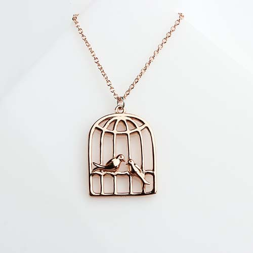 925 sterling silver bird cage charm -bigger size