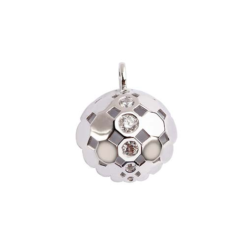 925 sterling silver cz ball pendant