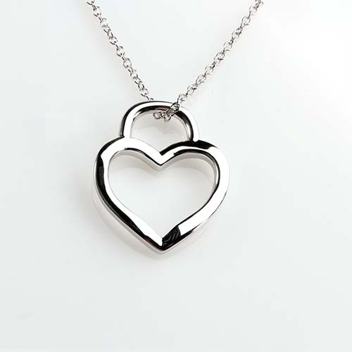 925 sterling silver heart jewelry pendant