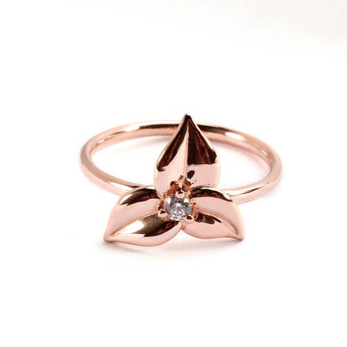 wholesale sterling silver cz flower jewelry rings