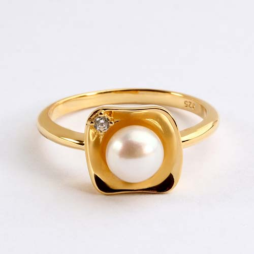 Wholesale 925 sterling silver cz pearl jewelry rings