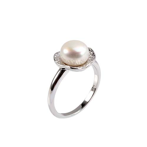 Wholesale sterling silver pearl wedding rings
