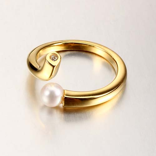 925 sterling silver cz pearl open ring