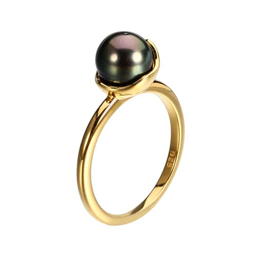 925 sterling silver pearl wedding ring