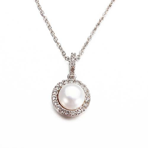 925 sterling silver topaz pearl jewelry pendant