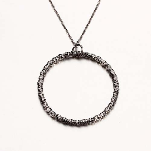 925 sterling silver minimalist circle pendant