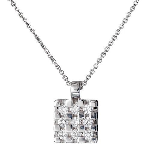 18k gold diamond pendant jewelry - 8mm