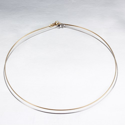 9k gold wire necklace jewelry -0.8mm