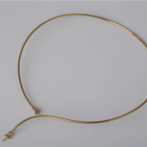 18k gold screw wire necklace mounting