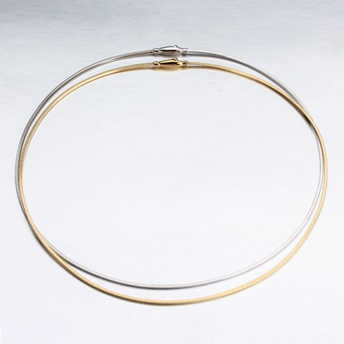18k gold wire necklace jewelry -1.6mm