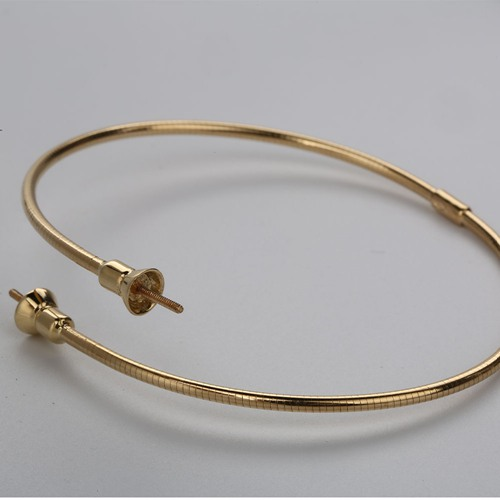 18k gold screw bangle mounting