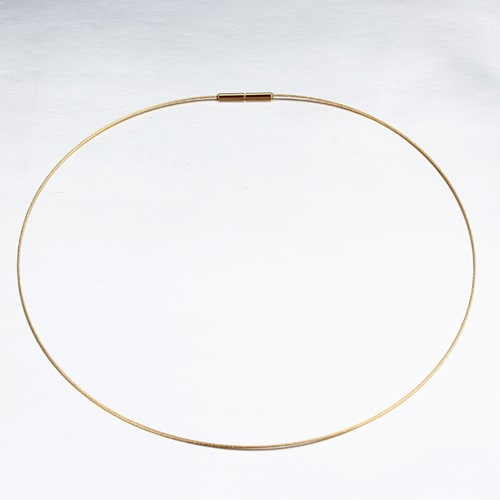18k gold wire necklace jewelry -1mm