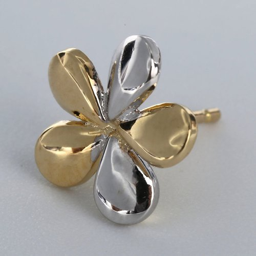 18k gold flower stud earrings jewelry