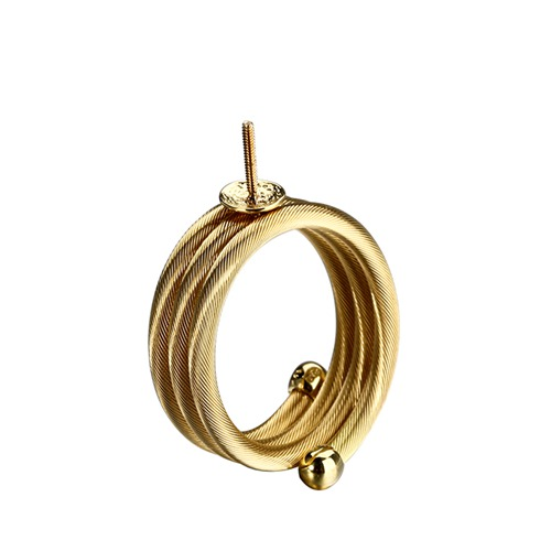 18k gold screw three layers ring mounting