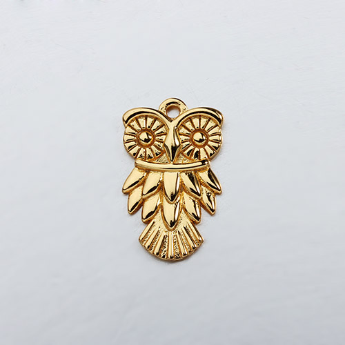 925 sterling silver owl charm,two sizes