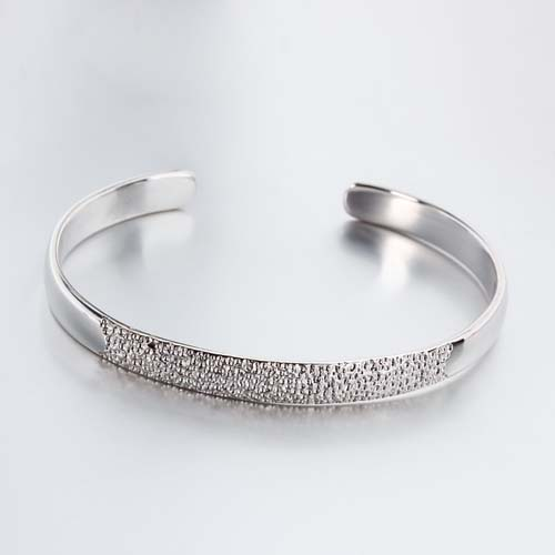 925 sterling silver hammered cuff bangle