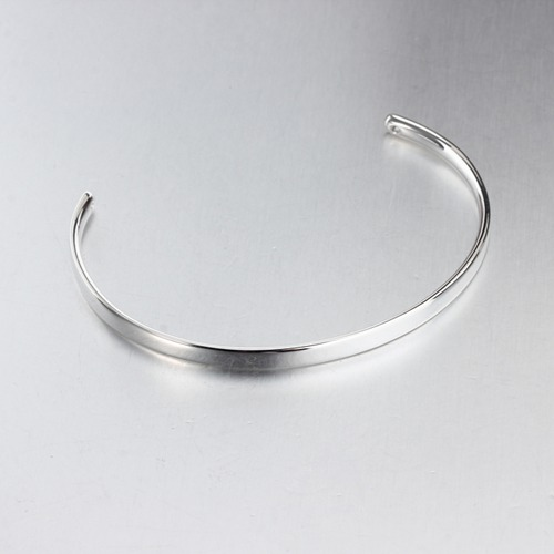 Custom logo words 925 silver blank cuff bangle bracelet