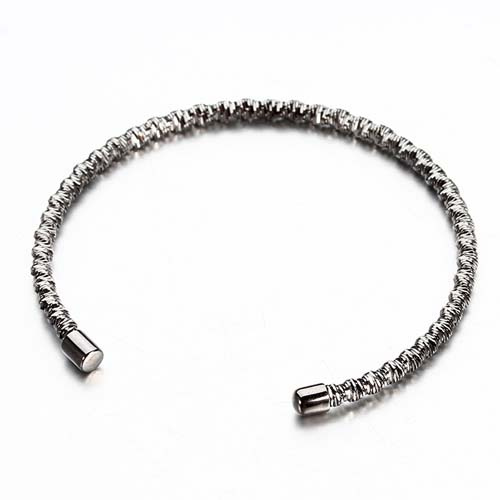 925 sterling silver elastic open bangle