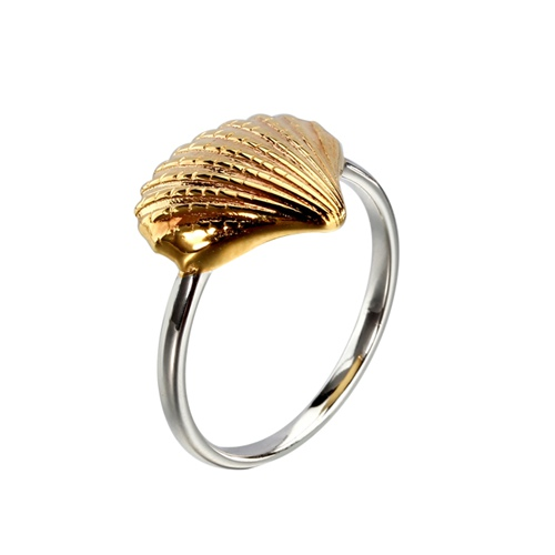 Fashion 925 sterling silver shell ring
