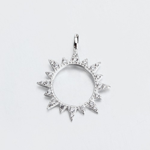 Renfook jewelry sterling silver star sun pendant