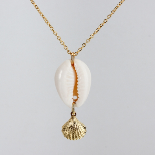 Renfook 925 sterling silver sea shell and conch pendant
