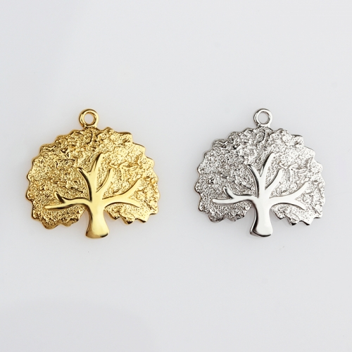 Renfook Sterling silver hammered effect tree of life charm